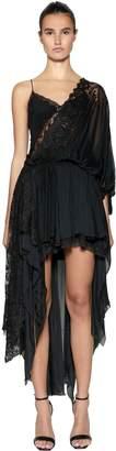 Faith Connexion Nvds Asymmetrical Silk & Lace Dress