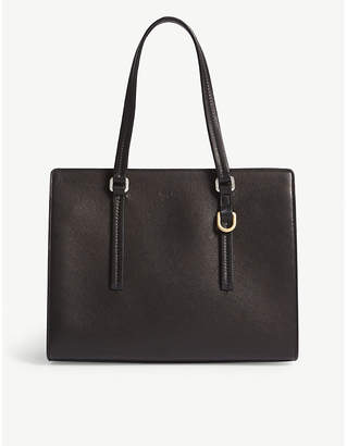 Rick Owens Black Leather Tote Bag