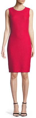 St. John Adina Sleeveless Sheath Dress