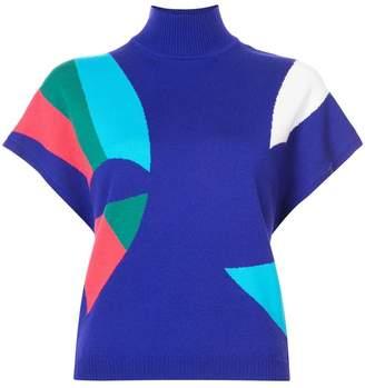 DELPOZO colour block knit top
