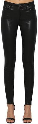 Karl Lagerfeld Mid Rise Waxed Skinny Denim Jeans