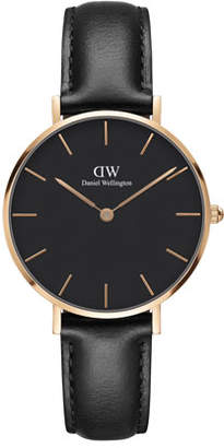 Daniel Wellington 32mm Classic Petite Sheffield Watch, Black/Rose Golden