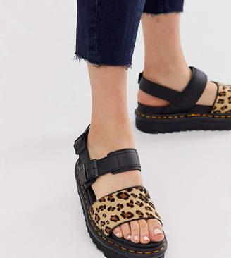 Dr. Martens x ASOS exclusive leopard Voss sandals