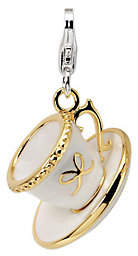 Amore La Vita Sterling Gold-Plated White Cup &S