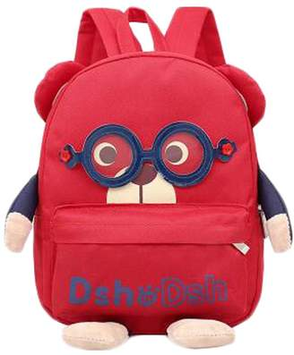 Express Kylin 1-3 Years Old Children Cute cartoon Shoulder Small Bag Backpack Bag, Red