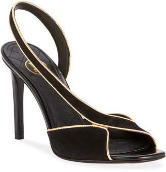 Balmain Macy Suede Slingback Sandals