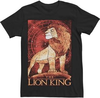 Simba Licensed Character Men's Lion King Splattered Poster Tee