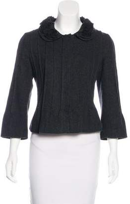 Philosophy di Alberta Ferretti Wool Button-Up Jacket