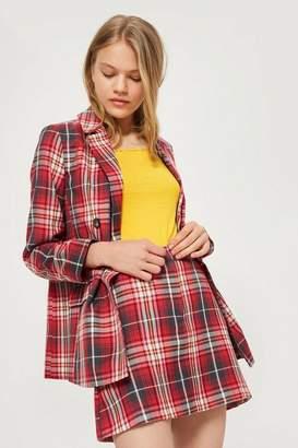 Topshop Summer Check Pelmet Skirt