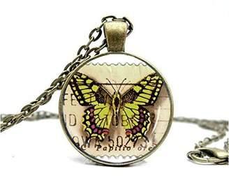 Charm & Chain Zhaoshopin Women Pretty Butterfly Art Desin Pendant Charm Chain Necklace [Jewelry]