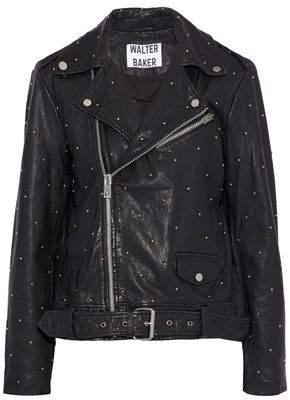 Walter W118 By Baker Leah Studded Leather Biker Jacket