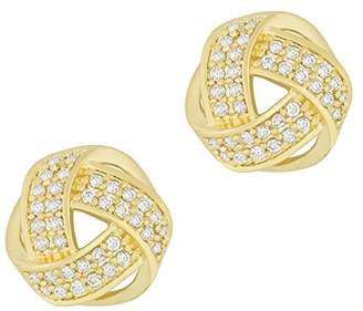 Co ORROUS & Legacy Collection 18K Plated Cubic Zirconia Twisted Love Knot Stud Earrings