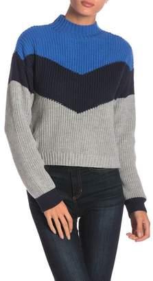 Ten Sixty Sherman Apres Ski Colorblock Knit Mock Neck Sweater