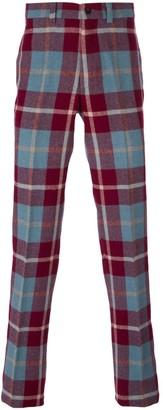 Jean Paul Gaultier Pre-Owned straight leg tartan trousers