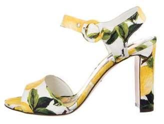 Dolce & Gabbana Lemon Ankle Strap Sandals