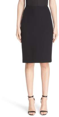 St. John Micro Boucle Pencil Skirt