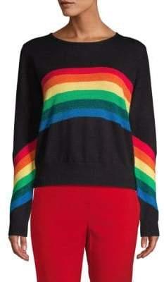 Rainbow Rib-Knit Sweater