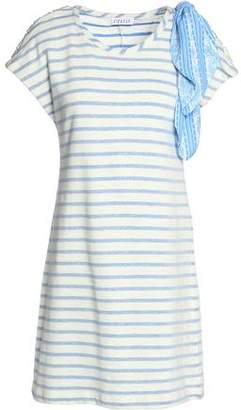 Claudie Pierlot Timber Embellished Striped Cotton-Blend Jersey Mini Dress