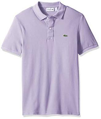 6246b2691 Lacoste Men's Short Sleeve Classic Pique Slim Fit Polo Shirt