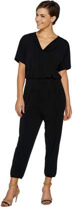 Lisa Rinna Collection Regular Dolman Sleeve Knit Jumpsuit
