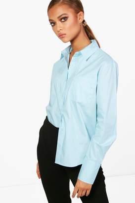 boohoo Poplin Tailored Shirt