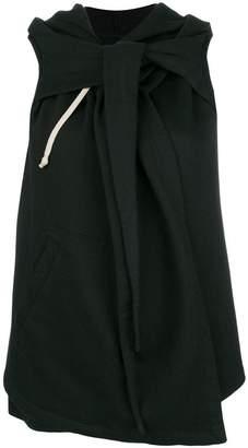 Rick Owens hooded sleeveless wrap