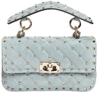 Valentino Small Spike Suede Shoulder Bag