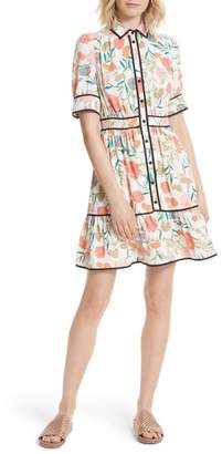 Kate Spade Blossom Print Fluid Shirtdress