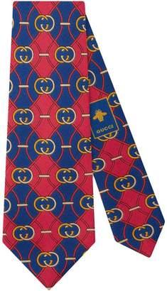 Gucci Interlocking G rhombus print tie