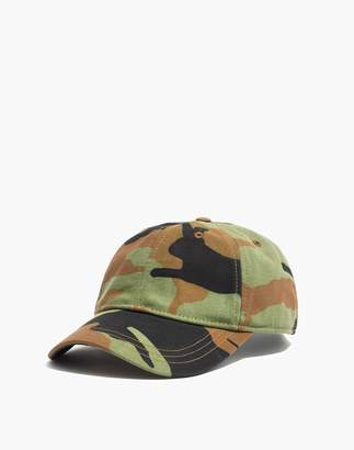 Madewell Canvas Baseball Cap in Cottontail Camo