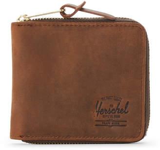 Herschel Nubuck Walt Zip-Around Leather Wallet