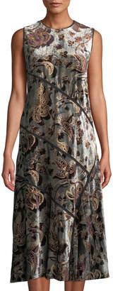 Lafayette 148 New York Melissa Floral Velvet Sheath Dress
