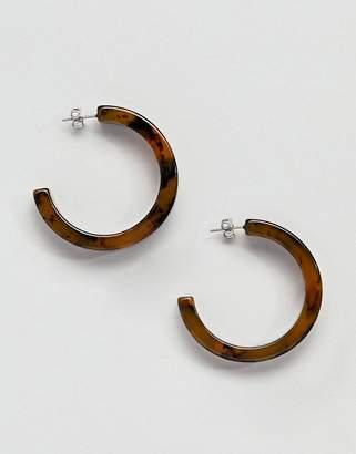 Pieces Tortoiseshell Hoop Earring