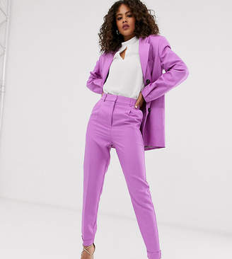 Asos Tall DESIGN Tall dream tapered suit trousers in lilac