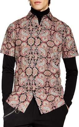 Topman Classic Fit Paisley Print Shirt