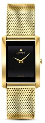 Movado La Nouvelle Gold-Tone Mesh Watch, 21mm x 29mm