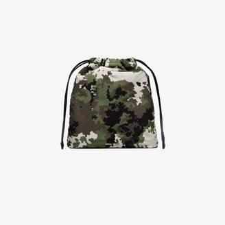 Miu Miu green camouflage print pouch