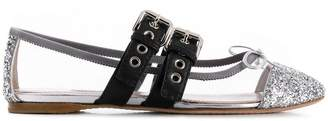 Miu Miu see-through panel ballerina shoes