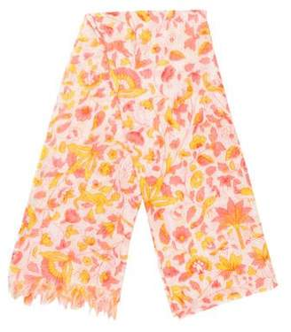 Liberty of London Designs Wool & Silk Floral Scarf