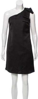 Nicole Miller Asymmetrical Satin Dress