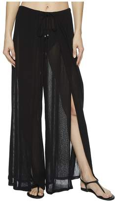 Robin Piccone Francesca Wide Leg Front Slit Pant Cover-Up Women's Swimwear