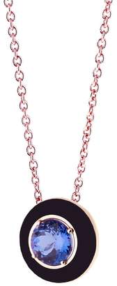 Selim Mouzannar Black Enamel And Tanzanite Necklace