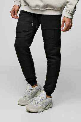 boohoo Jersey Skinny Cuffed Joggers With Pocket Detail