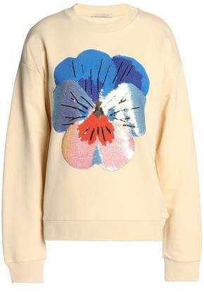 Sequin-Embellished Cotton-Blend Terry Sweatshirt