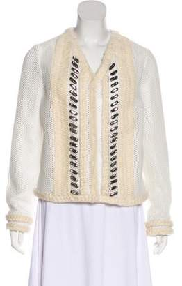 Viktor & Rolf Embellished Collarless Jacket
