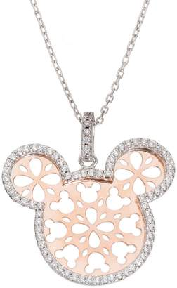 Disney Mickey Mouse Crystal Two-Tone Pendant Necklace