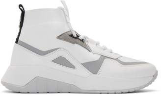 HUGO White Atom High-Top Sneakers