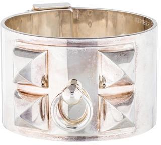 Hermès Sterling Collier de Chien Bracelet $3,795 thestylecure.com