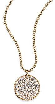 Ippolita Stardust Diamond & 18K Yellow Gold Disc Pendant Necklace