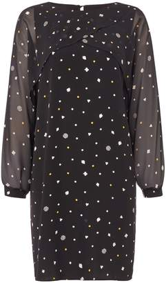 Biba Polkadot printed split sleeve dress
